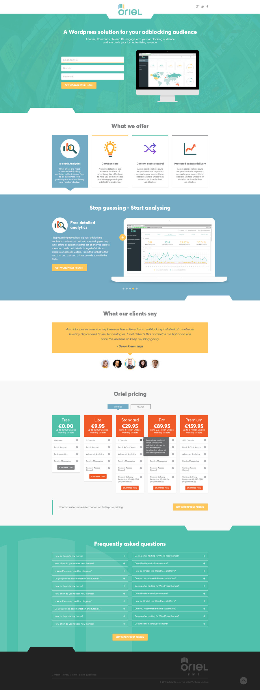 Small Business Website Homepage diagram