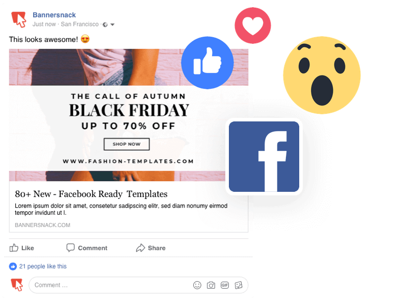 Example of Remarketing Display Ad on Facebook